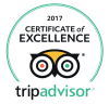 TripAdvisor Certificate of Excellence winner 2017